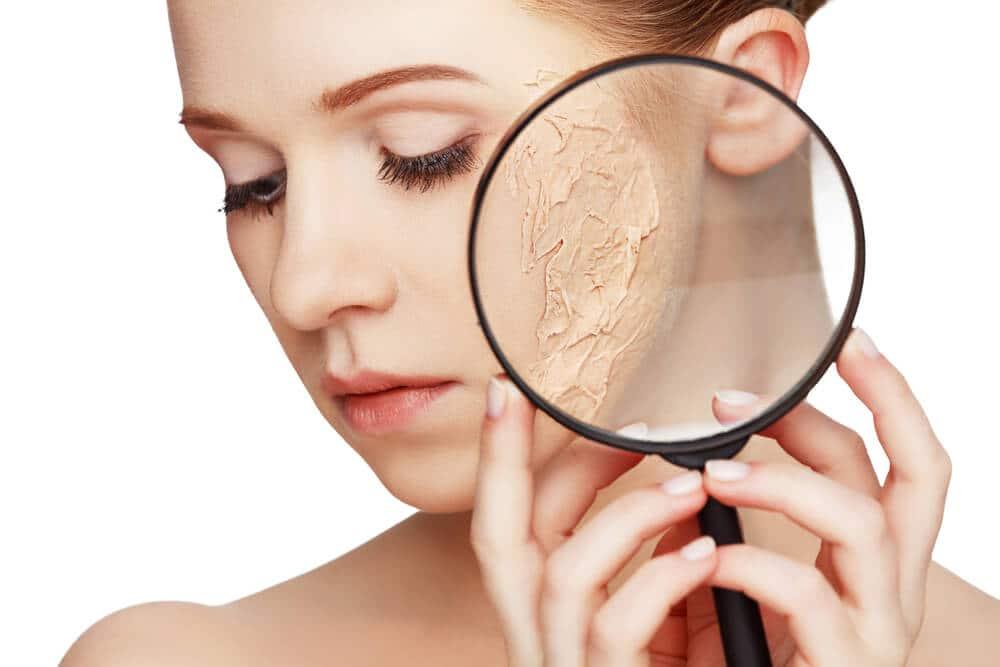 Дехидратиране на кожата на лицето